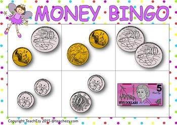 Money Bingo Australian Currency