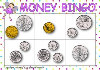 Money Bingo Australian Currency