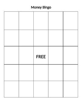 Money Bingo Board - Blank