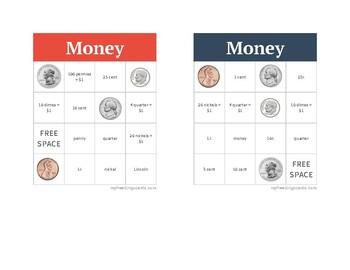 Money Bingo - Call Sheet