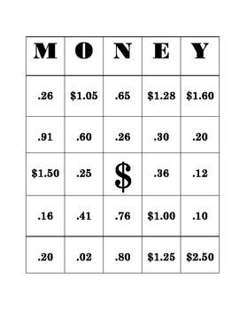Money Bingo! Counting Coins Can be Fun!