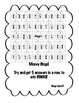 Money Bingo Game!