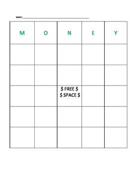 Money Bingo: Pennies, Nickels, Dimes, Quarters