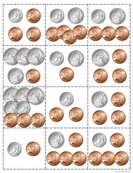 Money Bingo With Coins