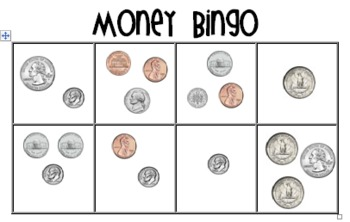 money bingo coin combinations by primary plans from mrs smith tpt. Black Bedroom Furniture Sets. Home Design Ideas