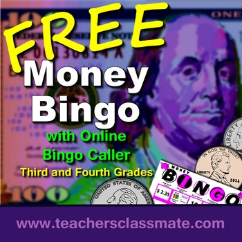 Money Bingo with Online Bingo Caller -  Math Centers Pack