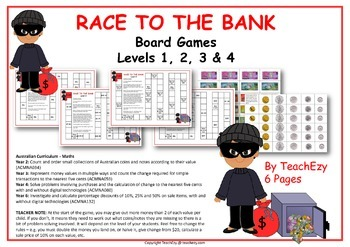 Money Board Game Australian Currency