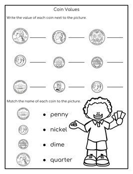money worksheets by my rainy day creations teachers pay teachers. Black Bedroom Furniture Sets. Home Design Ideas