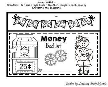 money worksheets by teaching second grade teachers pay teachers. Black Bedroom Furniture Sets. Home Design Ideas