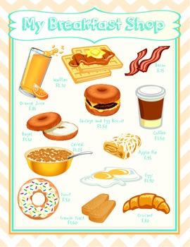 Money Breakfast Shop (Math) Packet Game