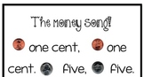 Money Bulletin Board, Penny, Nickel, Dime, Quarter, Poem, Song, & Cards