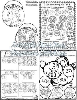 Counting Coins Activities Bundle