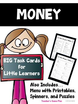 Money Bundle - Big Task Cards for Little Learners