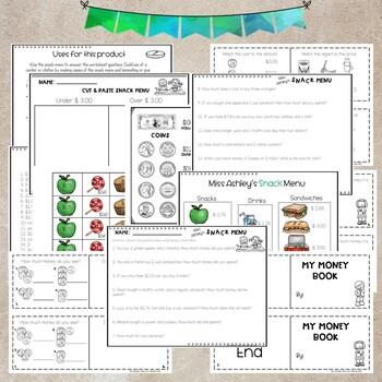 Money Bundle Pack- Cut & Paste, Notes, Worksheets and Booklet!