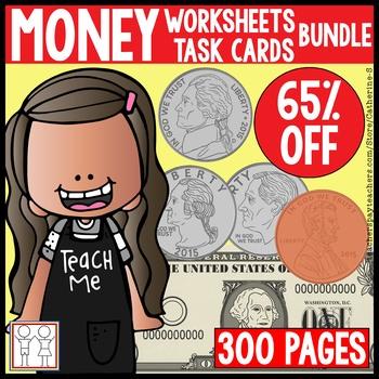Money Bundle - Worksheets, Task Cards
