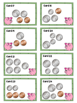 Money Bundle COUNTING COINS Math Stations