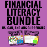 Money Bundle for Guided Math (US, Canadian, and Australian Currencies)