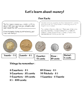 Money, Canadian Coins, Introduction