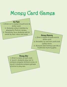 Money Card Games