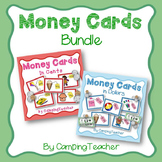 Money Cards Bundle Dollars and Cents for Math Lessons and Centers