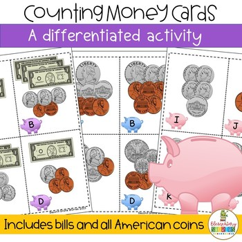 Money Cards ~ a differentiated math activity