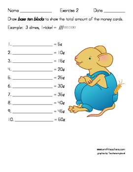 Money Cards for Common Core Learning