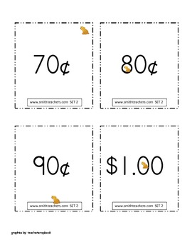 Money Cards for Common Core Math
