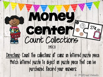 Money Center: Count Coin Collections - GO MATH! Chapter 7