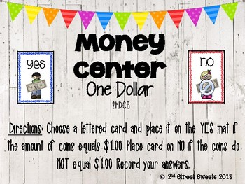 Money Center: One Dollar - GO MATH! Chapter 7