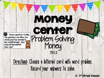 Money Center: Word Problems -GO MATH! Chapter 7