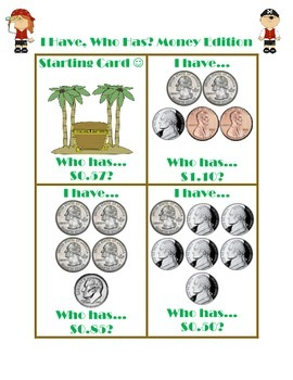 Money Charts and Activities