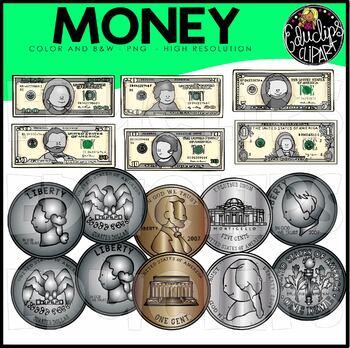 Money Clip Art Bundle {Educlips Clipart}
