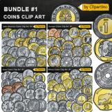 Money Clip Art Bundle-Coins around the world clip art BUNDLE