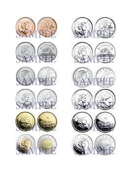 Canada Money Clip Art - Canadian Coins Clip Art