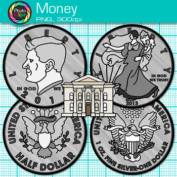 Money Clip Art |  Coin Recognition, Place Value, and Counting & Sorting
