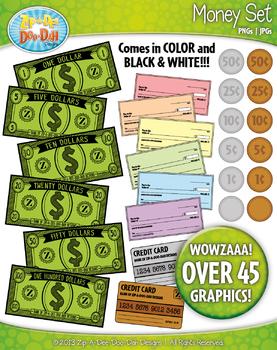 Money Clipart {Zip-A-Dee-Doo-Dah Designs}