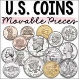 Money Clip Art - U.S. Dollars & Coins - Moveable Pieces