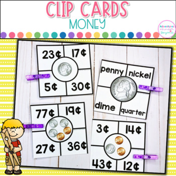 Money Clip Cards- Identifying and Counting Coins