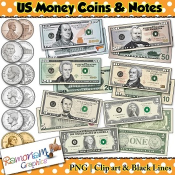 Money Clip art, US Currency