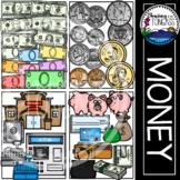 Money Clipart MEGA Set Bills and Coins