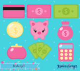Money Clipart and Vector for savings fun or printable money