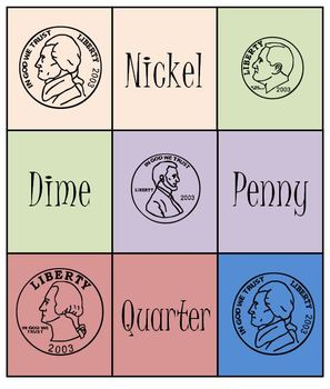 Money Coin Bingo Memory Match Game Set