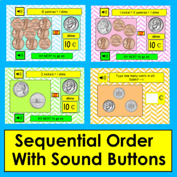 Boom Cards™ Money: Coin Counting: Penny Nickel Dime - Paperless No Prep