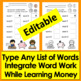 Money Activities: Coin Counting & Spelling Integrated Center- Math & Literacy
