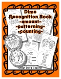 Money Coin - Dime Recognition Booklet - Crafty Work Sheet Style