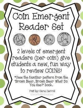 Money Coin Emergent Readers Set (Penny, Nickel, Dime, Quarter)