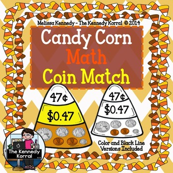 Candy Corn Coin Match {Money Center, Cards, IN and MORE!}