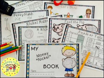 Money Coin Nickel Interactive Book
