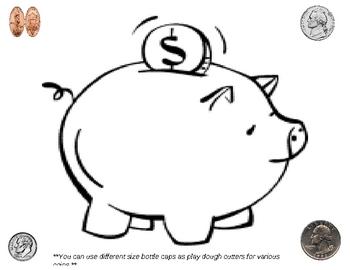 Money / Coin Play Dough Mat