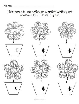 Money Mixed Coin Practice Pages Worksheets Set of 4